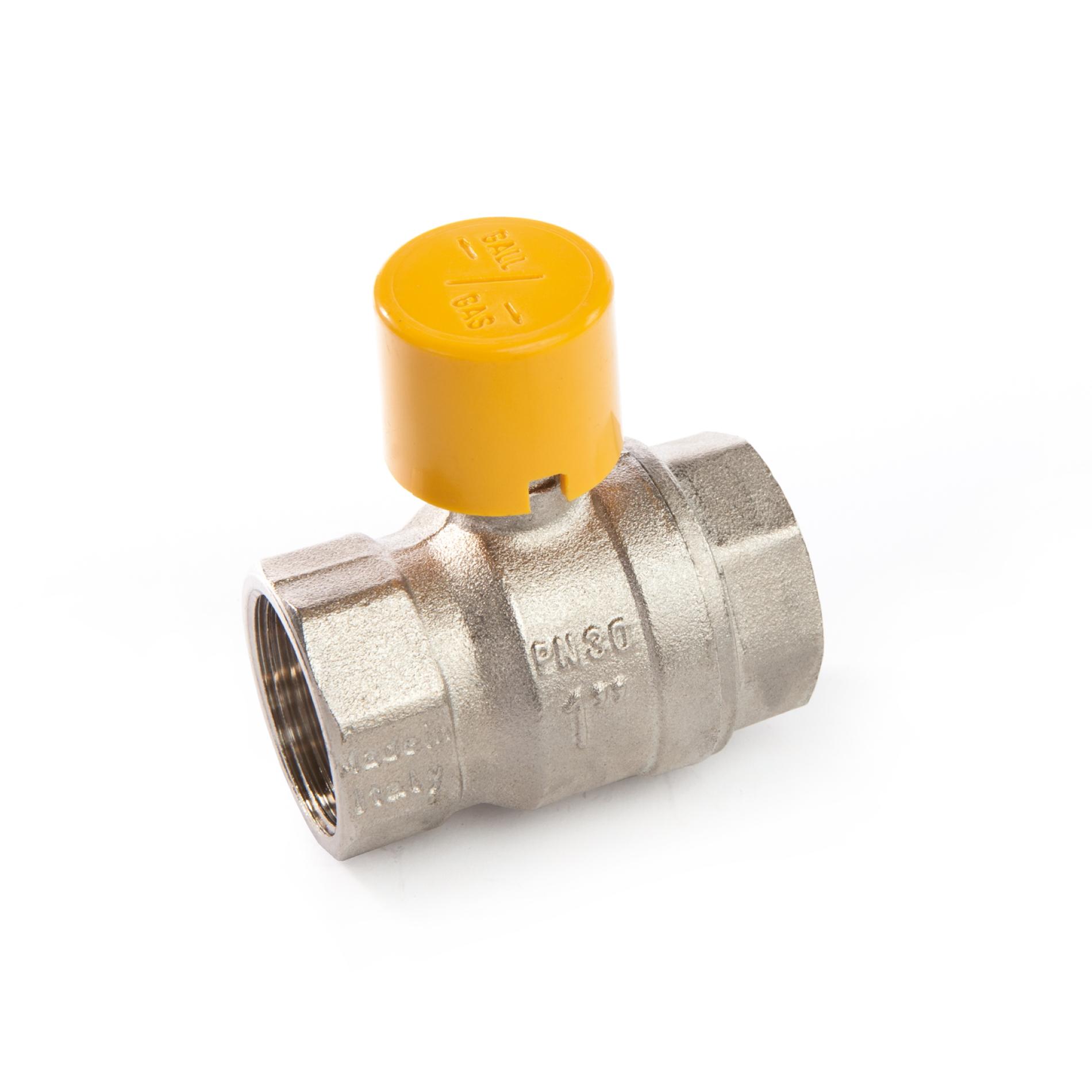 017FCS Valvola a sfera a passaggio totale per gas metano FxF sigillabile Full bore lockable ball valve