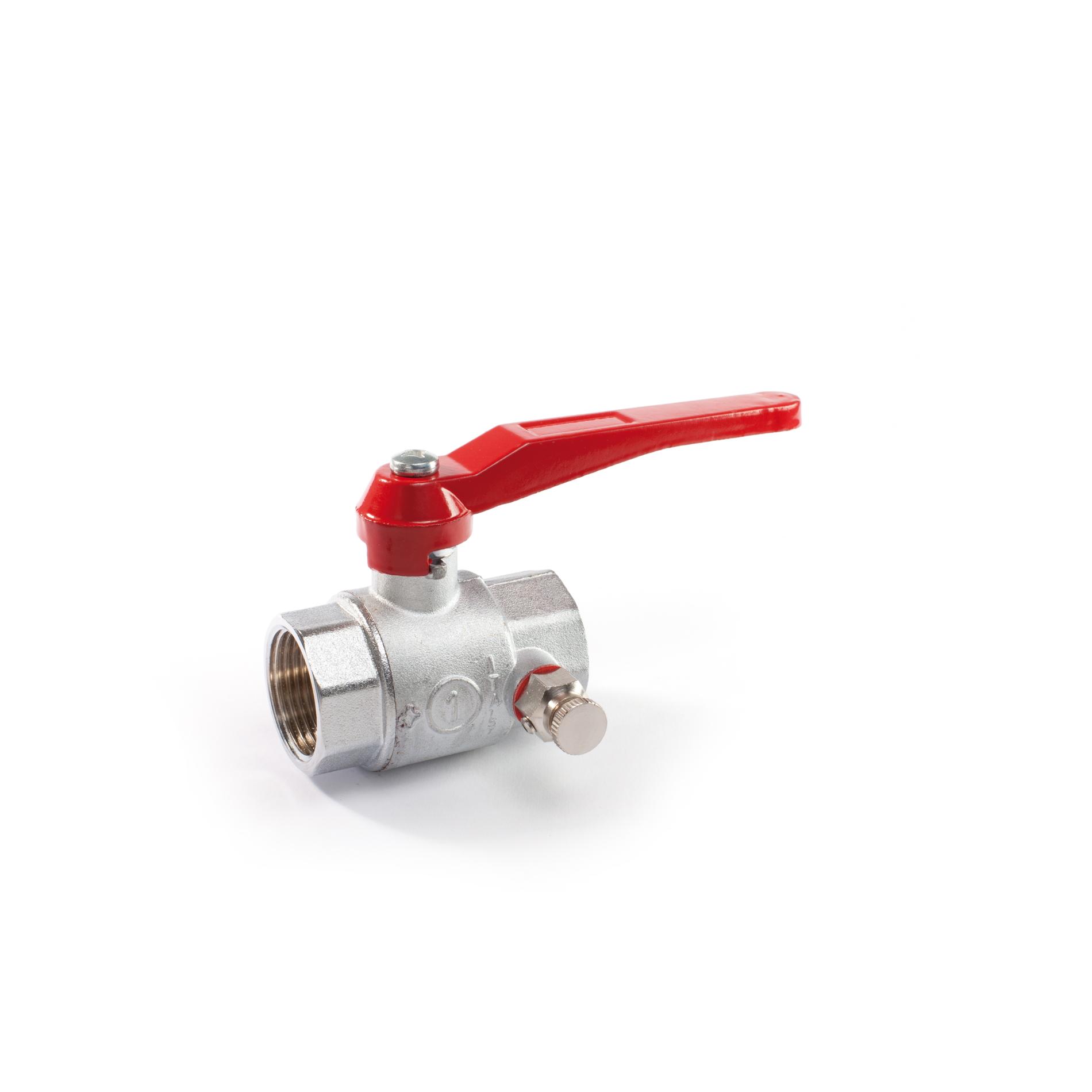 065 Valvola a sfera a passaggio totale tappo e valvolina di sfiato leva Brass ball valves normal type FxF plug and air vent lever
