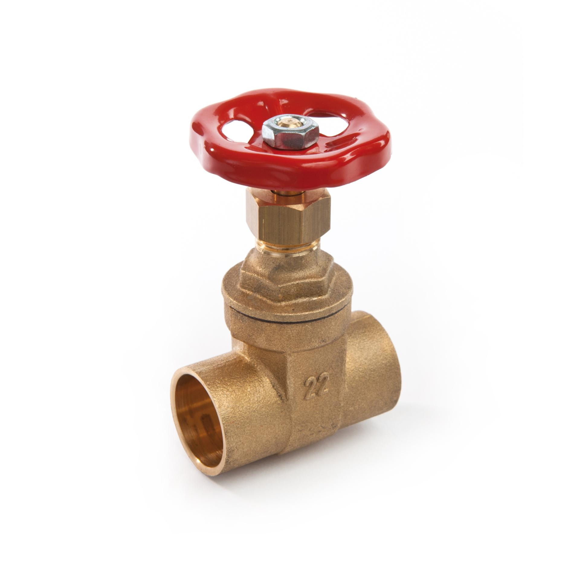 226 Saracinesca ottone per tubo rame attacchi a saldare Brass gate valve welding connections PN16