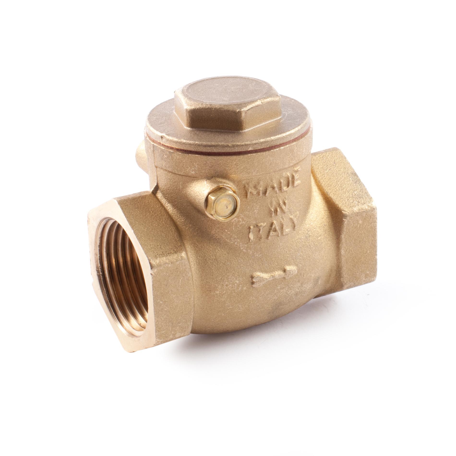 400 Valvola clapet ottone tipo pesante sede metallica Brass swing check valve heavy type metal disc