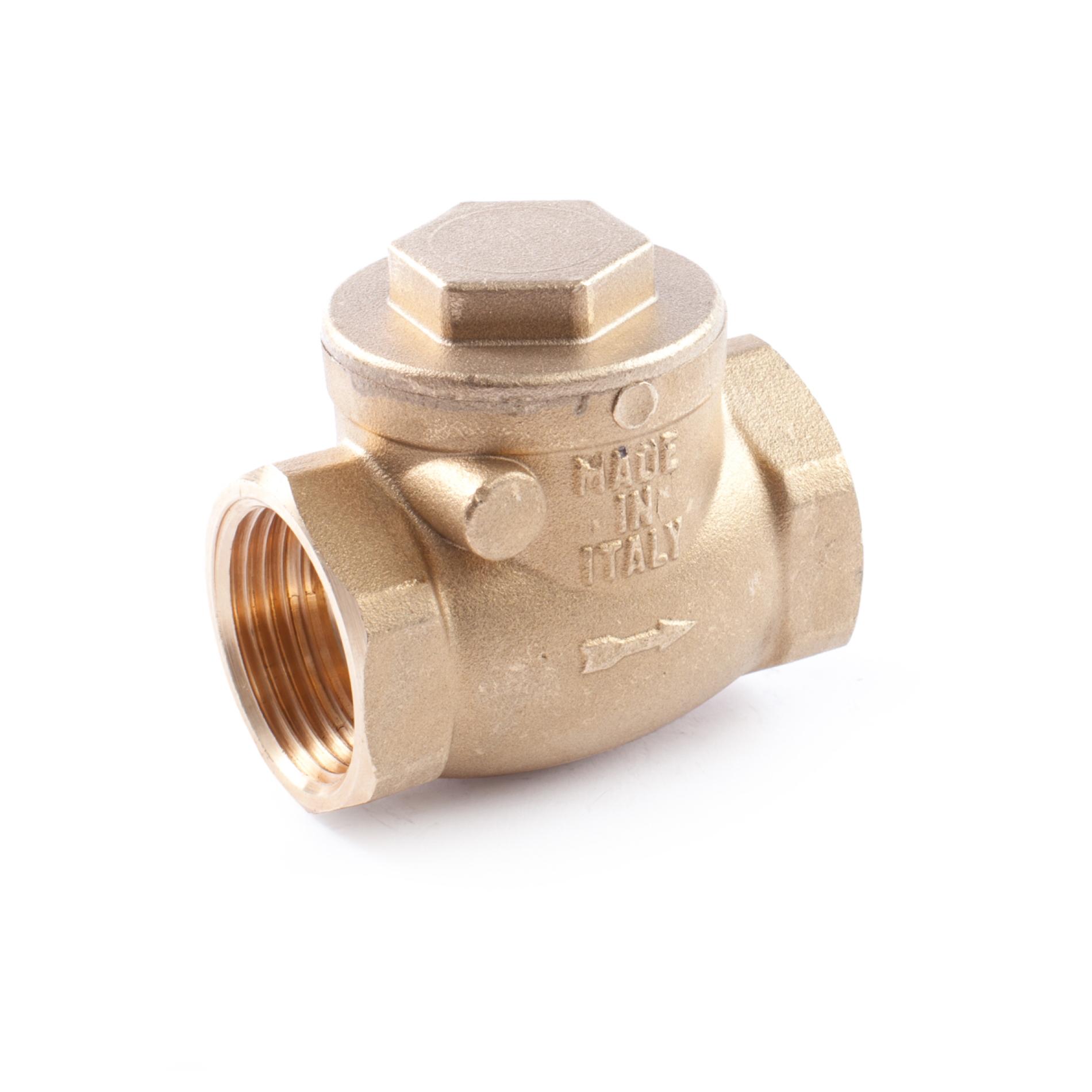 401 Valvola clapet ottone sede metallica Brass swing check valve metal disc