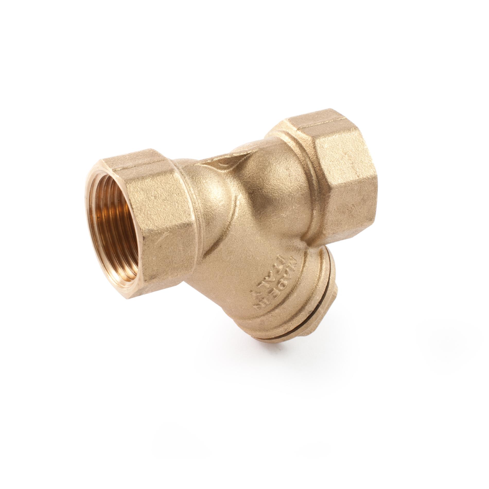412R Filtro in ottone per liquidi a passaggio ridotto Brass Y pattern strainer for liquids reducing bore