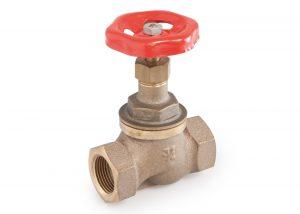 417 Valvola bronzo a flusso avviato sede Bronze free flow globe valve PTFE seat