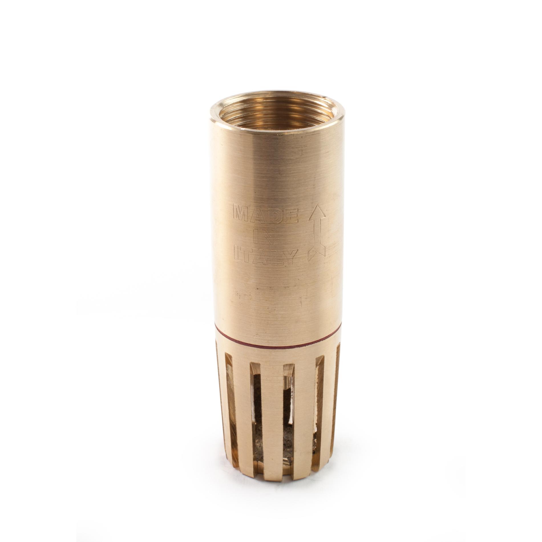 430 Valvola fondo tubolare ottone Brass cilindric foot valve