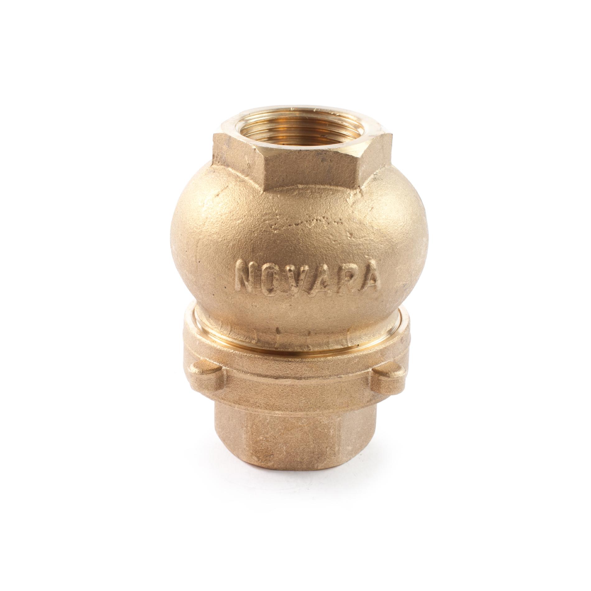 455 Valvola di non ritorno ottone verticale NRV Brass non-return valve vertical type NOVARA