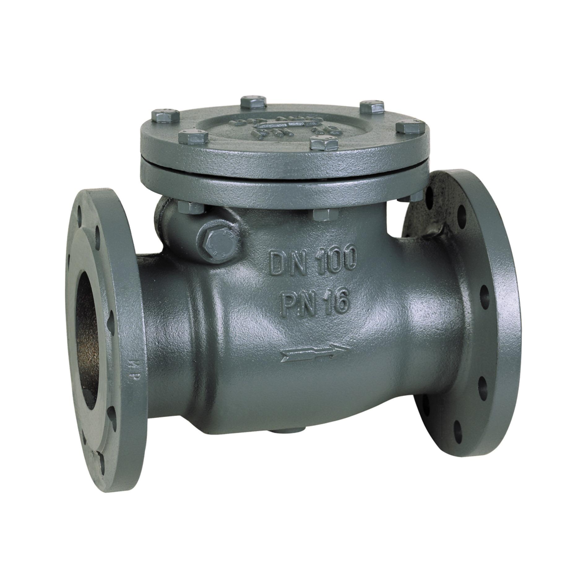 465 Valvola clapet ghisa flangiata Cast iron flanged swing check valve