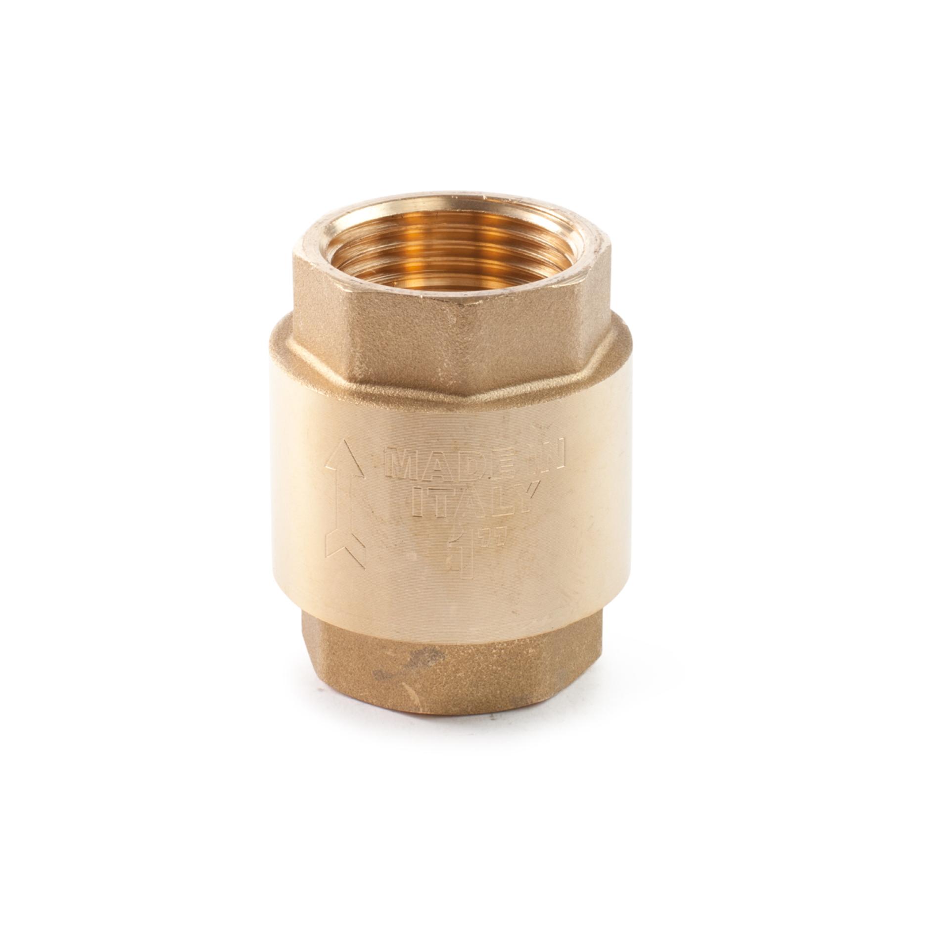 480 Valvola di non ritorno ottone otturatore plastica NRV Brass non-return valve with plastic disc