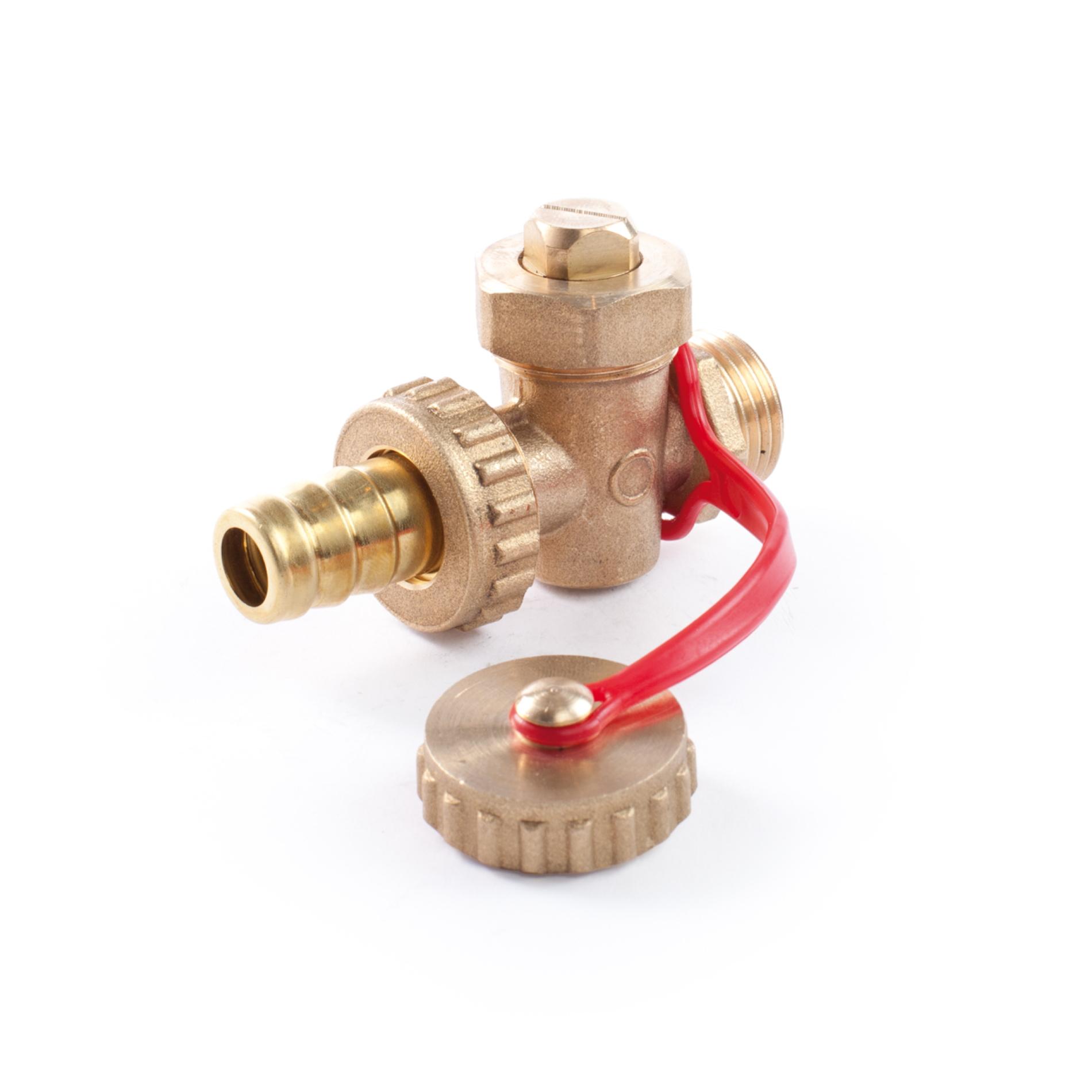 519 Rubinetto in ottone per scarico caldaia Brass boiler drain plug cock