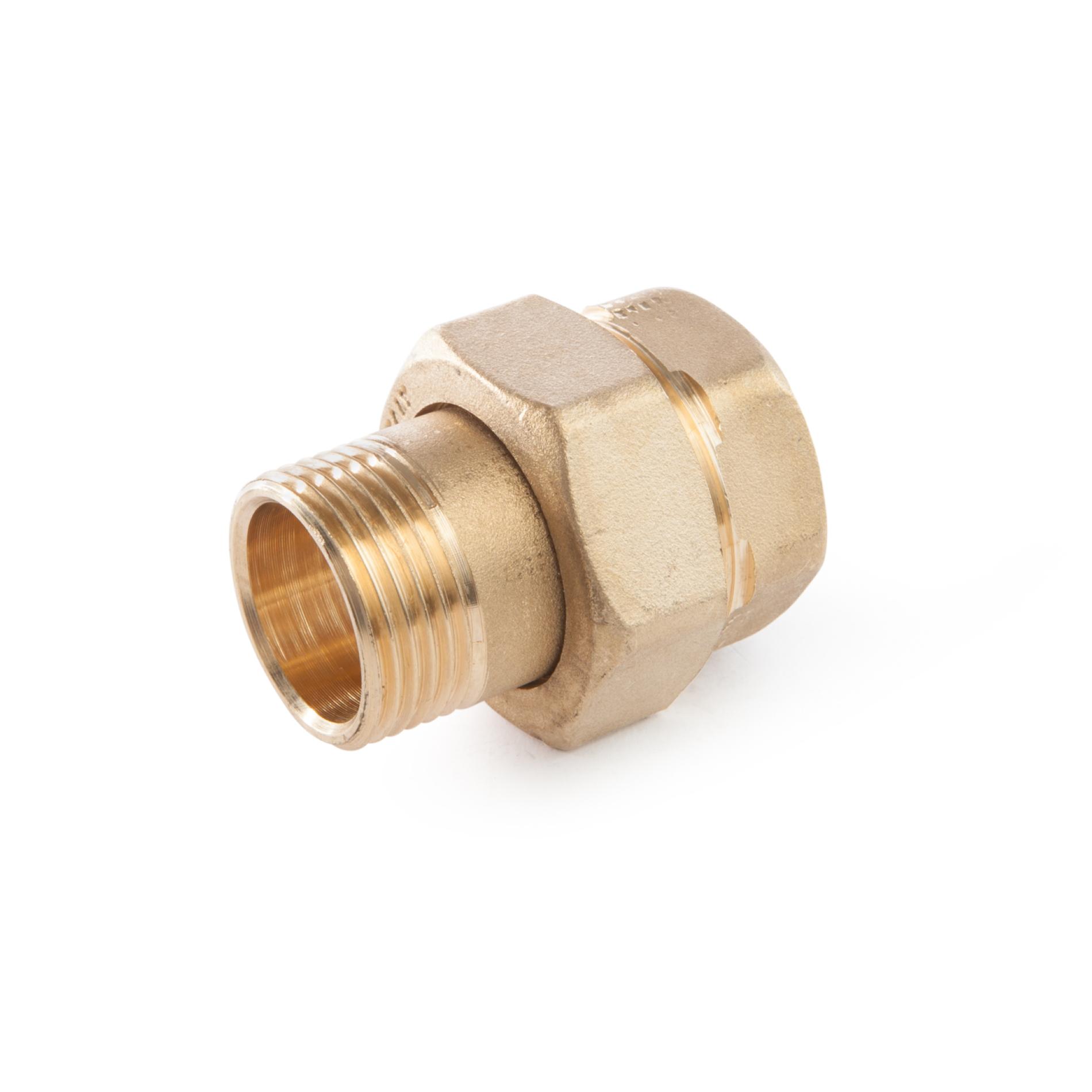 603 Raccordo diritto in tre pezzi MxF tenuta o-ring NBR three-piece straight coupling MxF NBR o-ring rubber sea threaded ottone filettato brass