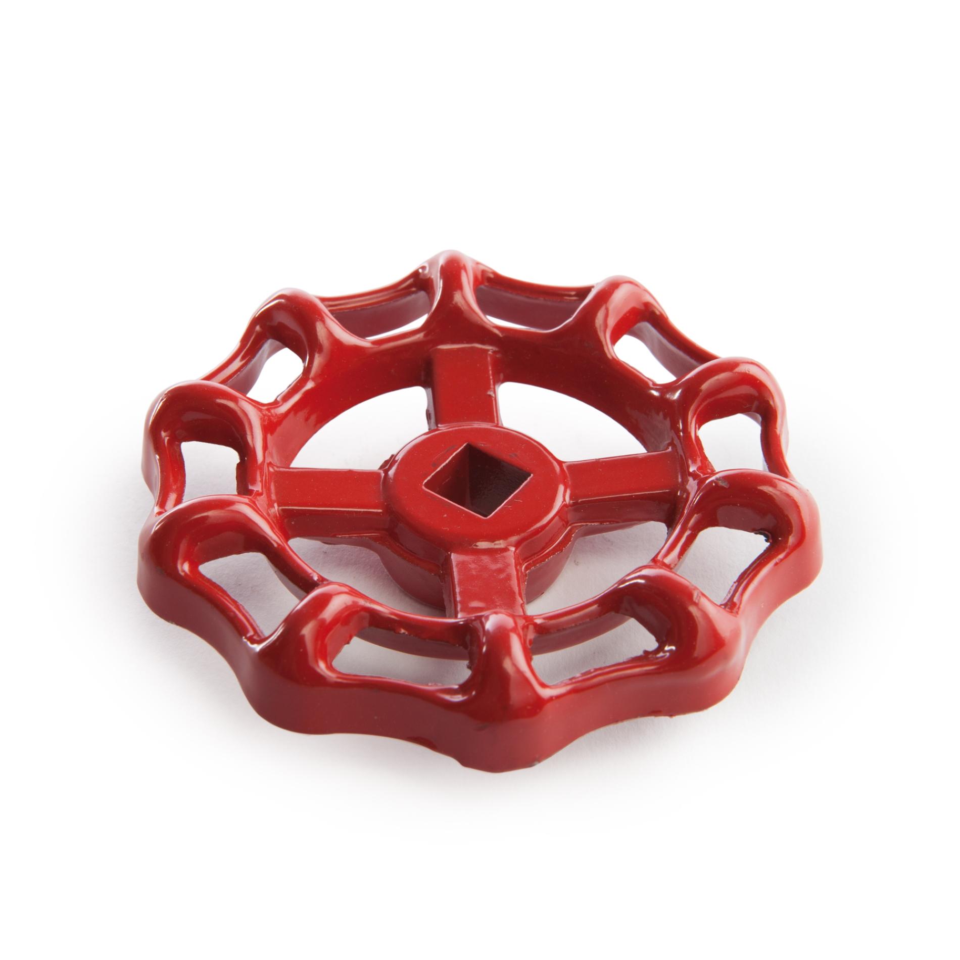 20H Volantino in alluminio pressofuso, rosso per valvole a saracinesca Red aluminium handwheel for gate valves spare parts accessori ricambi