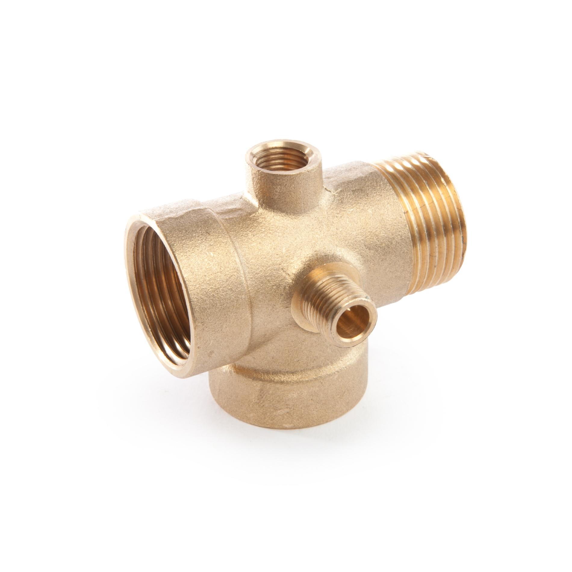605 Raccordo a cinque vie tipo normale H72 mm Five-way union standard type threaded ottone filettato brass
