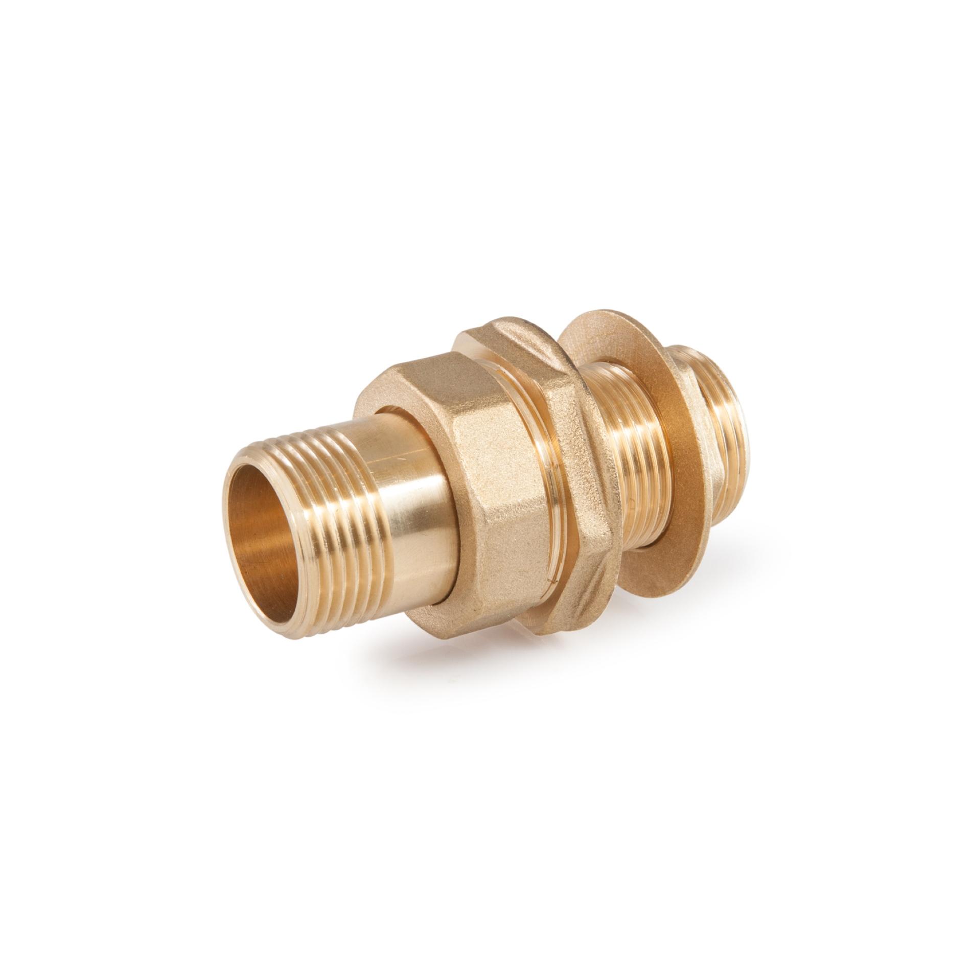 855 Raccordo per cassone Tank connection ottone filettato brass threaded