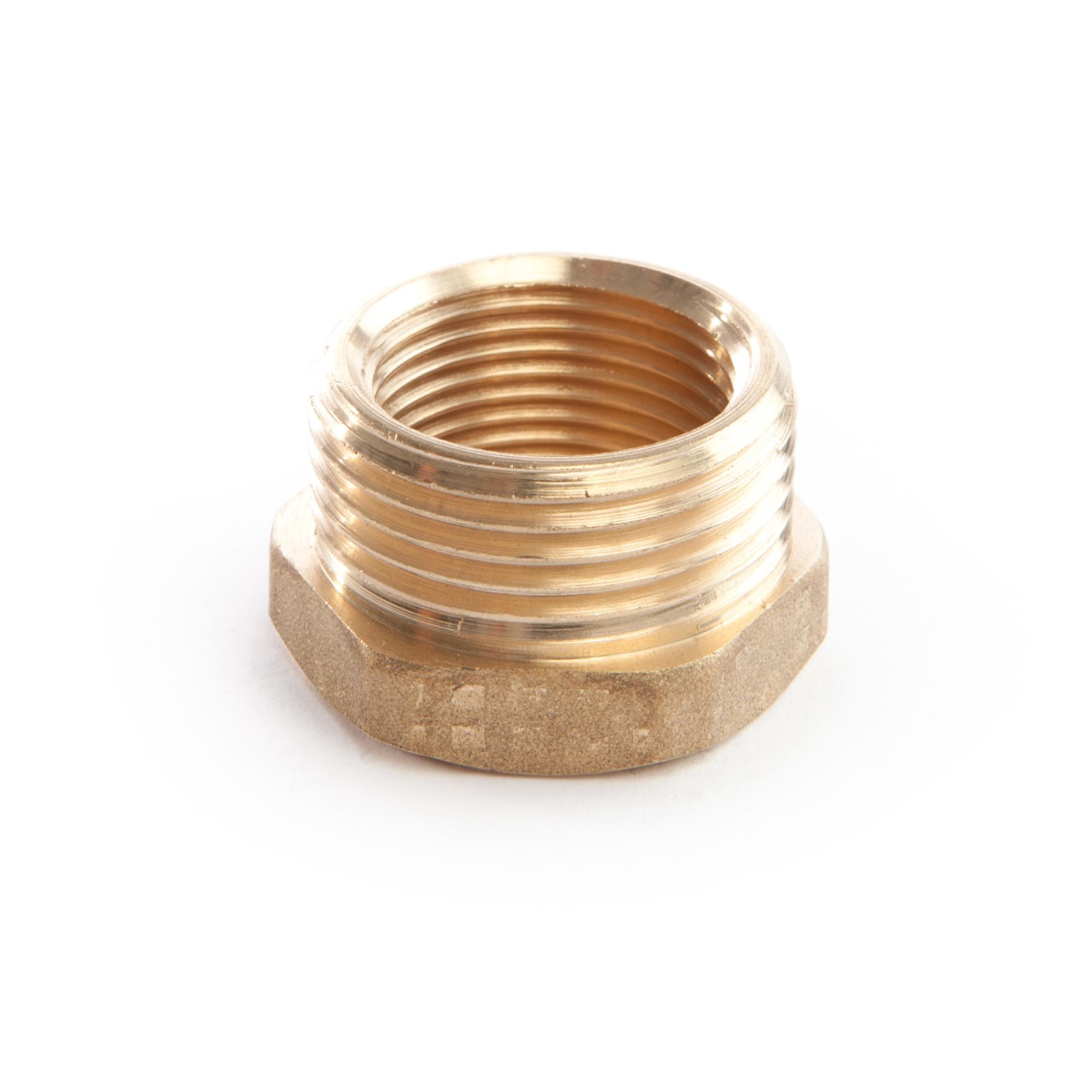 976 Riduzione esagonale MxF Hexagonal reducer ottone filettato brass threaded